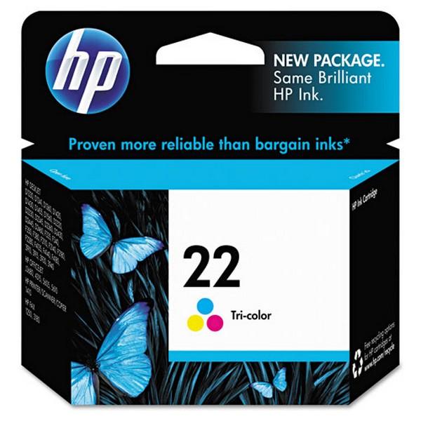 Оригинальный цветной струйный картридж HP 22 Color (C9352AE)-63