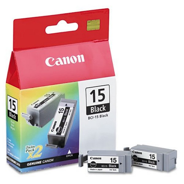Комплект оригинальных картриджей Canon BCI-15 Black (Twin Pack) (8190A002)-111