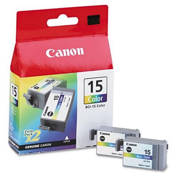 Комплект оригинальных картриджей Canon BCI-15 Color (Twin Pack) (8191A002)-110