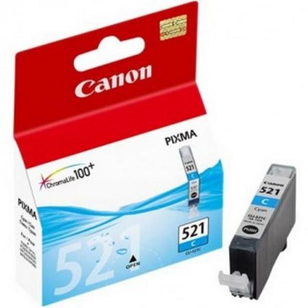 Оригинальный цветной струйный картридж Canon CLI-521C Cyan (2934B004)-165