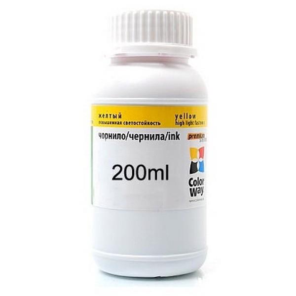 Чернила ColorWay для четырехцветных принтеров Epson 200мл Yellow (EW400Y)-809