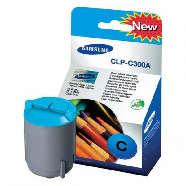 Оригинальный лазерный цветной картридж Samsung CLP-C300A Cyan-386