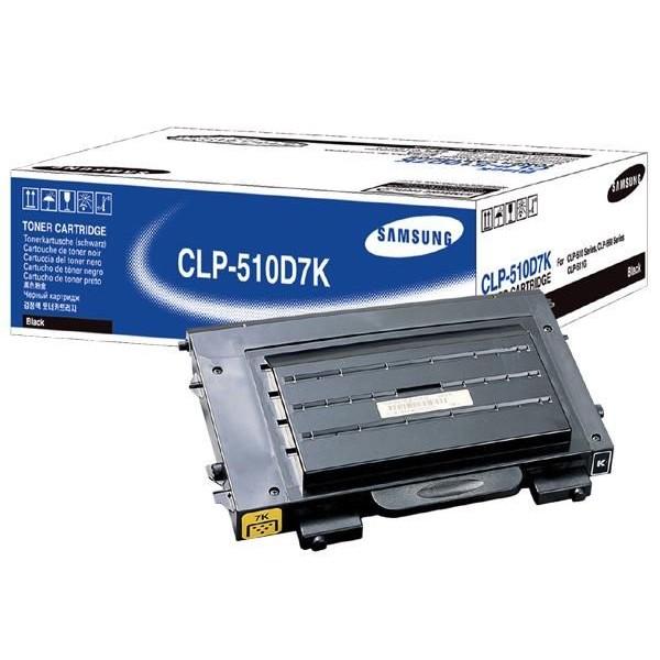 Оригинальный лазерный черный картридж Samsung CLP-510D7K /SEE Black (OEM)-389