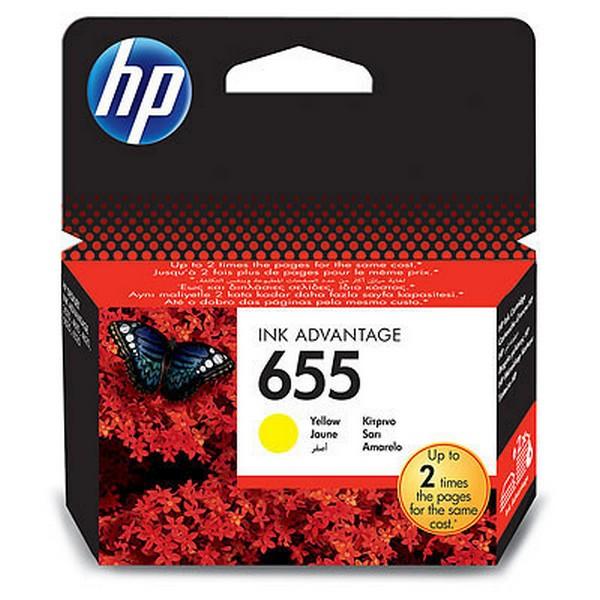 Картридж HP 655 Yellow (CZ112AE)