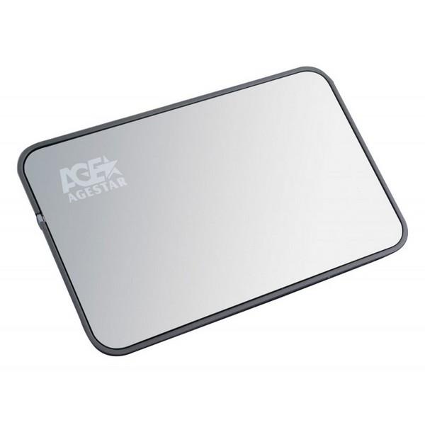 """Внешний карман для жесткого диска SATA 2,5"""" AGESTAR 3UB2A8 Silver USB 3.0-1023"""