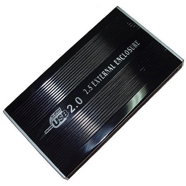 """Внешний карман для жесткого диска IDE 2,5"""" Black USB 2.0-1057"""