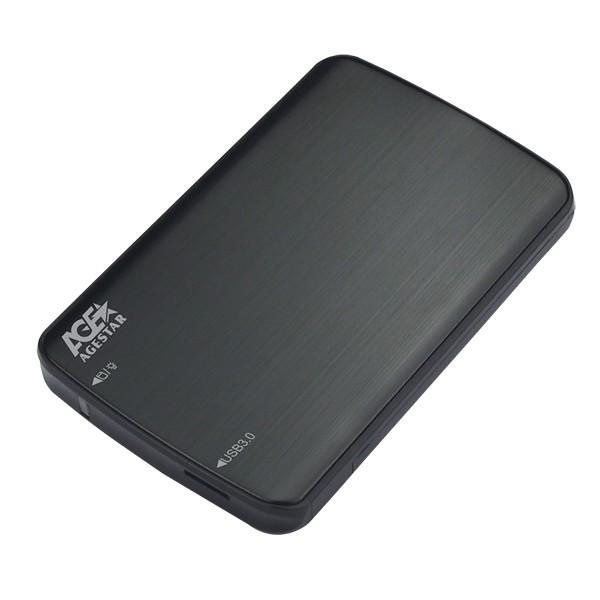 """Внешний карман для жесткого диска SATA 2,5"""" AGESTAR 3UB2A12 Black USB 3.0-1429"""
