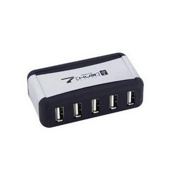 Активный концентратор Lapara LA-UH7315 7 Port USB 2.0 Hub Silver- Black (С блоком питания)-1468