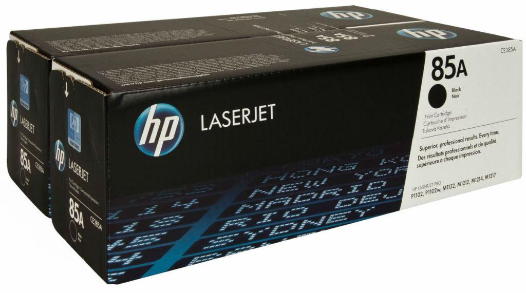 Комплект из двух оригинальных лазерных картриджей HP LaserJet 85A Dual Pack (CE285AF)-1740