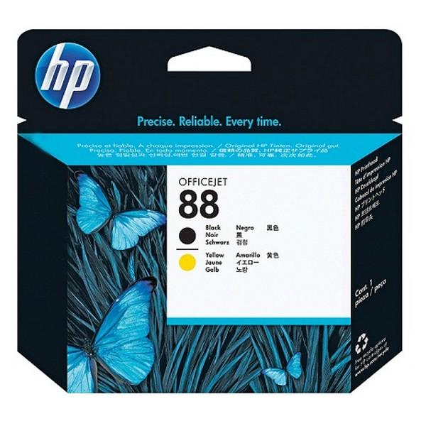Оригинальная печатающая головка HP 88 черная и желтая (C9381A)-2192