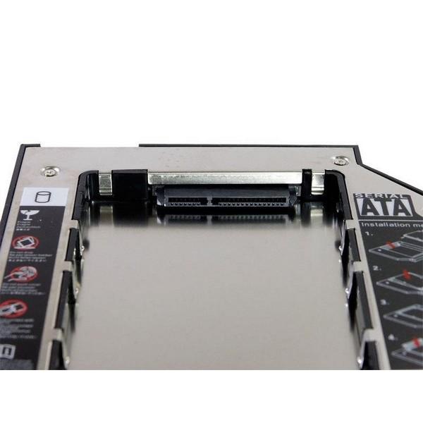 "Адаптер Optibay 12,7"" для установки жесткого диска 2,5"" SATA вместо mini SATA оптического привода ноутбука-2379"