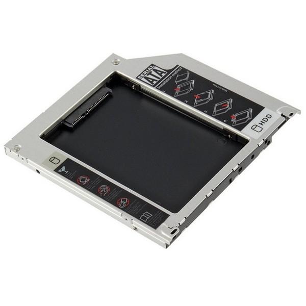 "Адаптер Optibay for Mac 9,5"" для установки жесткого диска 2,5"" SATA вместо mini SATA оптического привода ноутбука-2382"