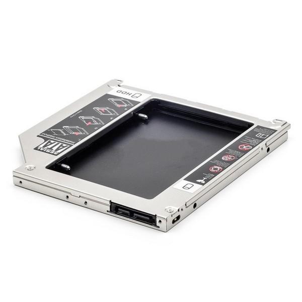 "Адаптер Optibay for Mac 9,5"" для установки жесткого диска 2,5"" SATA вместо mini SATA оптического привода ноутбука-2383"